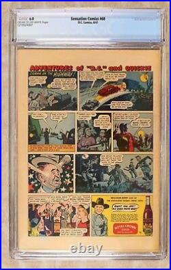 1946 Sensation Comics #68 CGC 6.0! 1st App of GA HUNTRESS! Rare! Wonder Woman