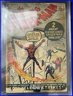1963 Marvel Amazing SPIDER-MAN #1 CGC. 5 1ST APP. OF CHAMELEON Cream / Off-White