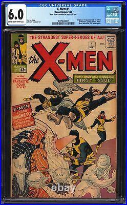 1963 X-Men #1 CGC 6.0 1ST APP OF MUTANTS, MAGNETO, PROFESSOR X, WORLDWIDE SHIP