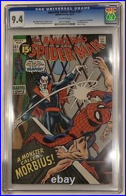 (1971) Amazing Spiderman #101 1st App MORBIUS! CGC 9.4 OWP! Sony movie coming