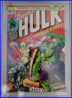 1974 Marvel Comics Book Incredible Hulk #181 CGC 8.0 WH Pages 1st Wolverine App