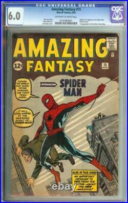AMAZING FANTASY #15 CGC 6.0 OWithWH PAGES // ORIGIN + 1ST APP SPIDER-MAN 1962