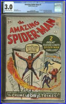 AMAZING SPIDER-MAN #1 CGC 3.0 OWithWH PAGES // 1ST APP J JONAH JAMESON + CHAMELEON