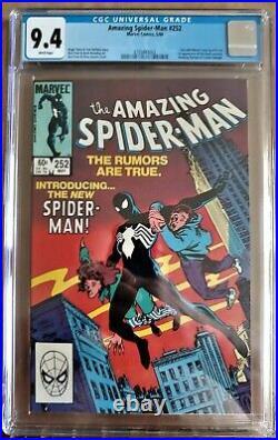 AMAZING SPIDER-MAN #252 1st App of Black Costume CGC 9.4 NM WP