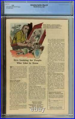 AMAZING SPIDER-MAN #3 CGC 5.5 OWithWH PAGES // ORIGIN/1ST APP OF DOCTOR OCTOPUS