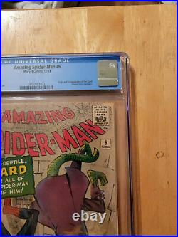 AMAZING SPIDER-MAN #6 1ST APP & ORIGIN LIZARD CGC 2.0 OWithWP