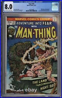 Adventure into Fear #19 CGC 8.0 VF OwWp 1st Howard the Duck App 1973 Man-Thing