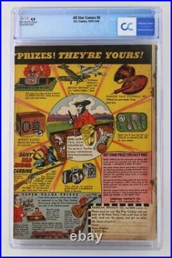 All Star Comics #8 CGC 4.0 VG DC 1942 1st App & ORIGIN of Wonder Woman