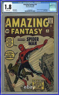 Amazing Fantasy #15 CGC 1.8 1962 2102635001 1st app. Spider-Man