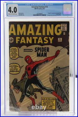 Amazing Fantasy # 15 CGC 4.0 Origin & 1st app. Of Spider-Man (Peter Parker)