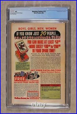 Amazing Fantasy #15 CGC 6.5 1962 1217537001 1st app. Spider-Man