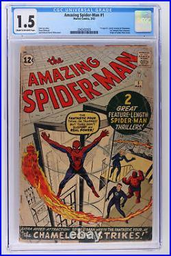 Amazing Spider-Man #1 Marvel 1963 CGC 1.5 2nd App Spider-Man & 1st J. Jonah
