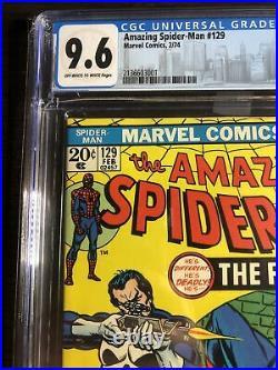 Amazing Spider-Man #129 CGC 9.6 OWW (Marvel 2/74) It's a Beauty-1st app Punisher