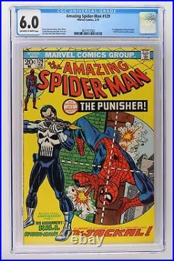 Amazing Spider-Man #129 Marvel 1974 CGC 6.0 1st App The Punisher & Jackal