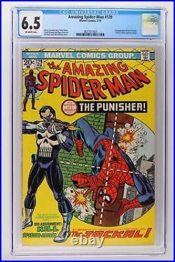 Amazing Spider-Man #129 Marvel 1974 CGC 6.5 1st App The Punisher & Jackal