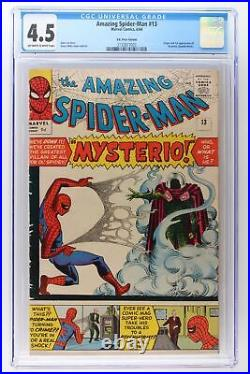 Amazing Spider-Man #13 Marvel 1964 CGC 4.5 1st App Mysterio UK Variant
