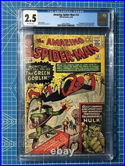 Amazing Spider-Man #14 CGC 2.5 1964 1st app. Green Goblin OFF-WHITE PAGES