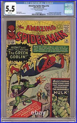 Amazing Spider-Man #14 CGC 5.5 1964 2060985002 1st app. Green Goblin