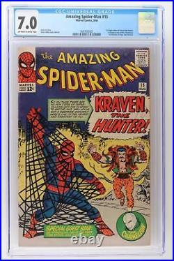 Amazing Spider-Man #15 Marvel 1964 CGC 7.0 1st App Kraven the Hunter