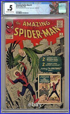 Amazing Spider-Man #2 CGC 0.5 1963 2078123001 1st app. Vulture