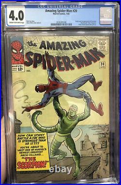 Amazing Spider-Man #20 CGC 4.0 1965 1st app. Scorpion MCU