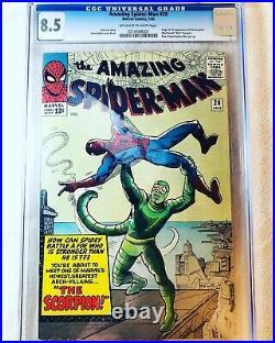 Amazing Spider-Man #20 (Jan 1965, Marvel) CGC 8.5 1st App. Of the Scorpion