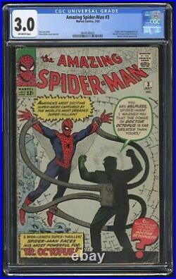 Amazing Spider-Man #3 CGC 3.0 (Marvel 7/63) 1st app & origin Doctor Octopus