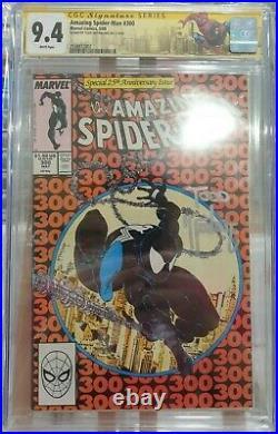 Amazing Spider-Man #300 First App Venom CGC 9.4 Sig Series Todd McFarlane signed
