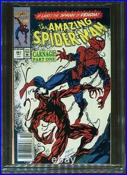 Amazing Spider-Man#361 CGC 9.4 $1.80 Australian Price Variant 1st app Carnage