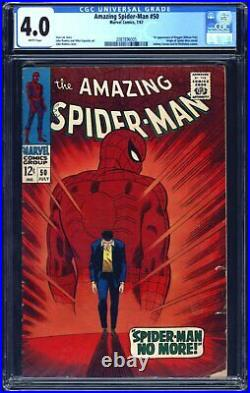Amazing Spider-Man 50 CGC 4.0 1st app of Kingpin (Wilson Fisk) WHITE PAGES