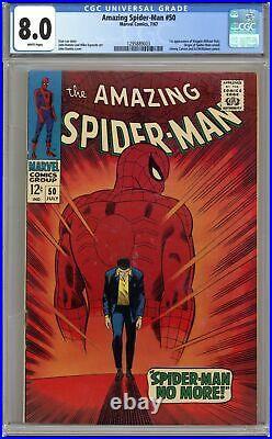 Amazing Spider-Man #50 CGC 8.0 1967 1295889003 1st app. Kingpin