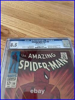 Amazing Spider-Man 50 CGC Graded 8.5 VF+ 1st App Kingpin Marvel Comics 1967
