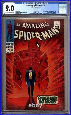 Amazing Spider-Man 50 CGC Graded 9.0 VF/NM 1st App Kingpin Marvel Comics 1967