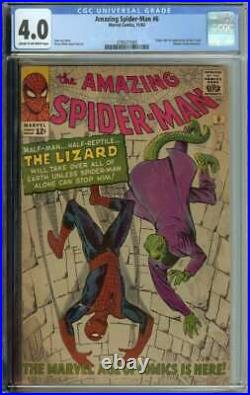 Amazing Spider-Man #6 CGC 4.0 Origin & 1st App Lizard