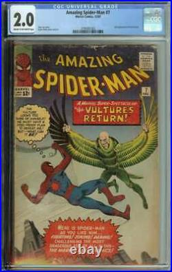 Amazing Spider-Man #7 CGC 2.0 2nd App The Vulture