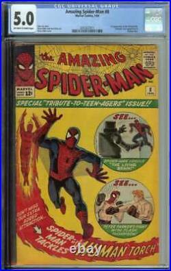 Amazing Spider-Man #8 CGC 5.0 1st App Living Brain