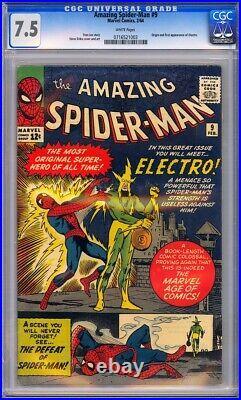 Amazing Spider-Man #9 CGC 7.5 Origin & 1st app. Of Electro (Max Dillon) L@@K