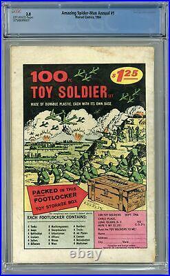 Amazing Spider-Man Annual #1 CGC 3.0 1964 3758699001 1st app. Sinister Six