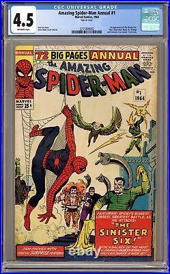 Amazing Spider-Man Annual #1 CGC 4.5 1964 3771808002 1st app. Sinister Six