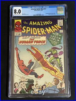 Amazing Spider-man #17 Cgc 8.0 Owtwp 2nd App Green Goblin Marvel Comics 1964