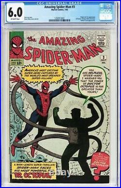 Amazing Spider-man 3 CGC 6.0 (1st App Doctor Octopus) 1293913001