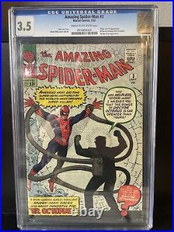 Amazing Spider-man #3 Cgc 3.5 1st App Doctor Octopus Marvel Comics