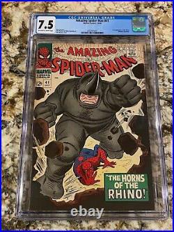 Amazing Spider-man #41 Cgc 7.5 1st App Rhino High End Marvel Key Hot Mcu Movie