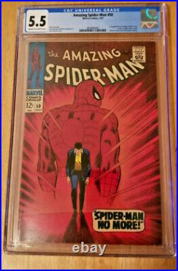 Amazing Spider-man #50 1st App Kingpin Cgc 5.5 Spider-man Origin Retold
