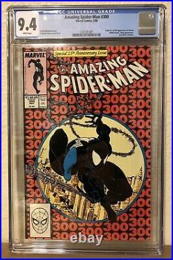 Amazing Spiderman #300 1st Full App & Origin of Venom CGC Graded 9.4 White Pages