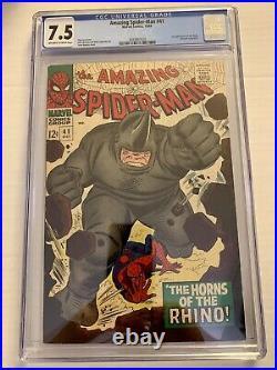 Amazing Spiderman #41 CGC 7.5 1st App of Rhino RARE Higher Grade. Romita Cover