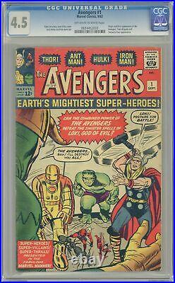 Avengers #1 CGC 4.5 1963 0634452003 1st app. The Avengers