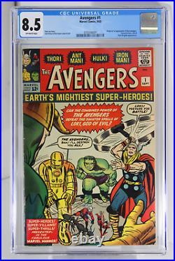 Avengers #1 CGC 8.5 Origin & 1st app of the Avengers