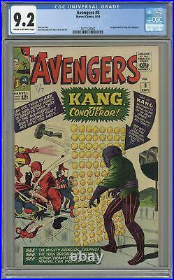 Avengers #8 CGC 9.2 1964 2077120002 1st app. Kang the Conqueror