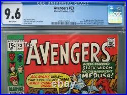 Avengers #83 CGC 9.6 WP 1970 1st app Liberators & Valkyrie